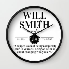 25 |  Will Smith Quotes | 190905 Wall Clock