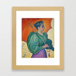 Woman with a Parasol (Femme à l'ombrelle) Framed Art Print