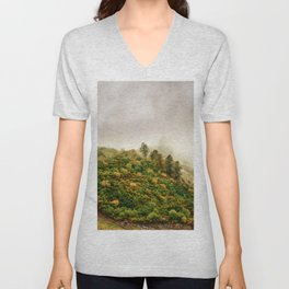 Autumn valley in the cloud Unisex V-Neck