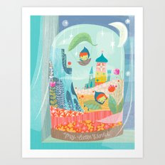 my little world Art Print