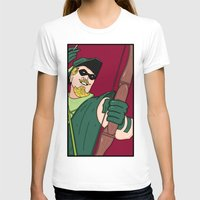 green arrow T-shirts featuring Green Arrow by Chelsea Herrick