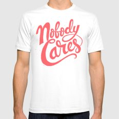 Nobody Cares 2X-LARGE Mens Fitted Tee White