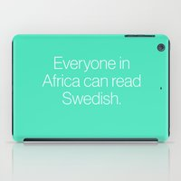 mean girls iPad Cases featuring Mean Girls #7 – Swedish by Enyalie
