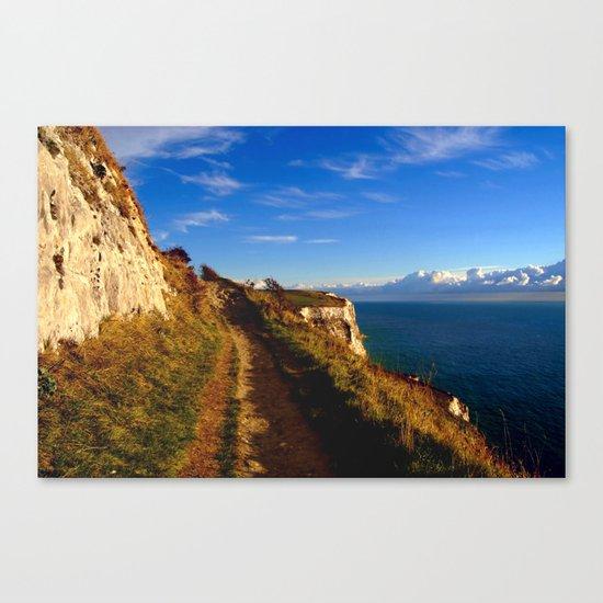 Cliff's Edge Dover  Canvas Print