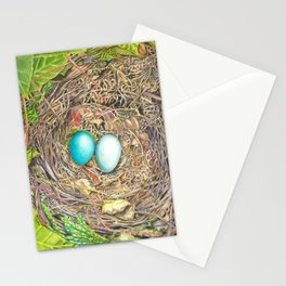 nid d'oiseaux Stationery Cards