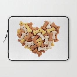 Dog biscuits Valentine heart Laptop Sleeve