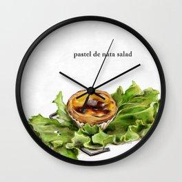 La Cuisine Fusion - Pastel de Nata Salad Wall Clock