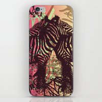 zebra iPhone & iPod Skins featuring ZEBRA by Nechifor Ionut