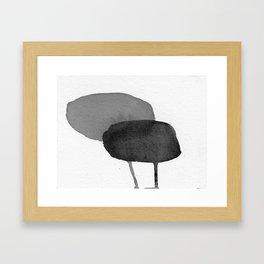 Two Stones Framed Art Print