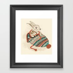 cozy chipmunk Framed Art Print