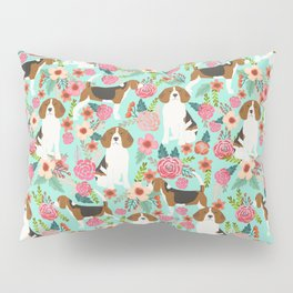 Beagle floral pattern dog breed gifts must have beagles florals pupper Pillow Sham