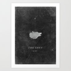 A MOVIE POSTER A DAY: THE GREY Art Print