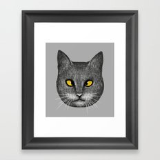 Cross Eyed Framed Art Print