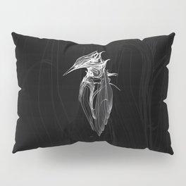 Kingfisher 1b.  White on black  background-(Red eyes series) Pillow Sham