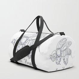 Bee Happy Sketch Duffle Bag