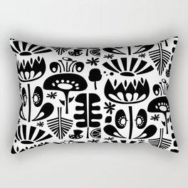 MCM Scandi Flowers Black Rectangular Pillow
