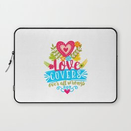 Love covers over all wrongs Laptop Sleeve