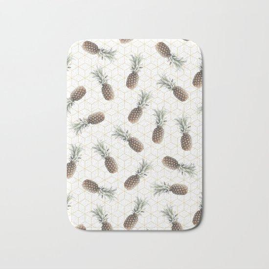 Raining Pineapples Bath Mat