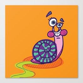 Syd the Snail Canvas Print