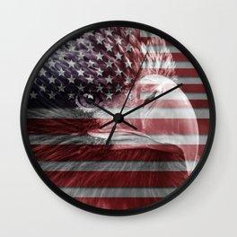 USA flag eagle ph Wall Clock