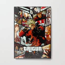 Trigun Ultimate anime tribute Metal Print