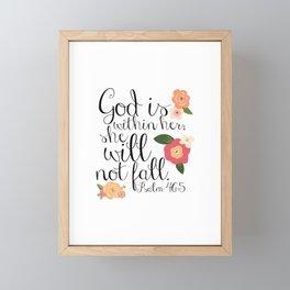 She Will Not Fall Framed Mini Art Print
