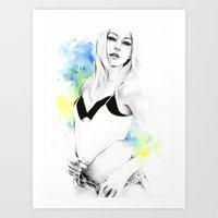 forever young Art Prints featuring Forever young by Cora-Tiana