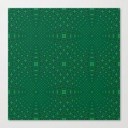 Green Tunnel Trance Canvas Print