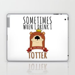 Otter Marten Weasel Wine Drinking Funny Animal Gift Laptop & iPad Skin