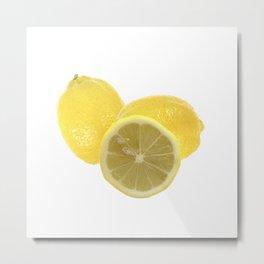 Fresh lemon Throw Metal Print