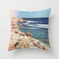 dolphins Throw Pillows featuring Dolphins by Mermaid's Coin Surf Art * by Hannah Kata