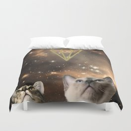 Galaxy Cats Duvet Cover