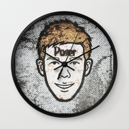Poser: Benjamin Beam Wall Clock
