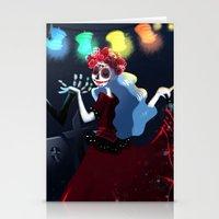 dia de los muertos Stationery Cards featuring Dia de los muertos by Lenore2411