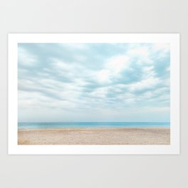 calm cloudy day Art Print