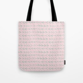 Contemporary Pink and Mint Arrow Pattern Tote Bag