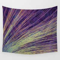 fireworks Wall Tapestries featuring Fireworks by Françoise Reina