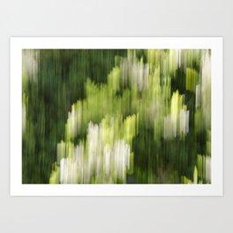 Green Hue Realm Art Print