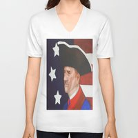 revolution V-neck T-shirts featuring Revolution by Trehan's Treasures