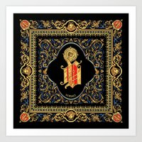versace Art Prints featuring Versace Classic by Goldflakes
