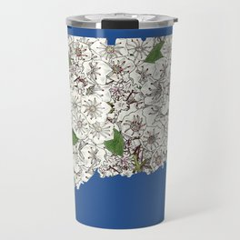 Connecticut in Flowers Travel Mug