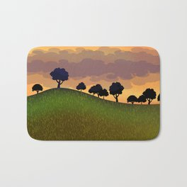 Landscape summer Bath Mat