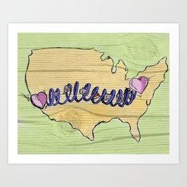 Heart State Art Print
