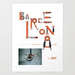 Bike to Life - Barcelona Art Print