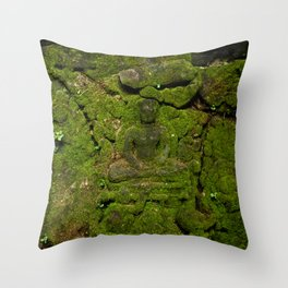 go green - moss buddha Throw Pillow