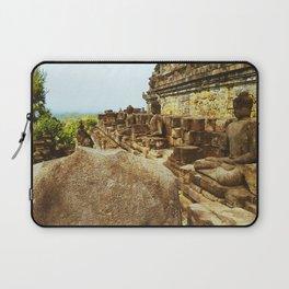 Beheaded  Statue at Borobudur Temple Laptop Sleeve