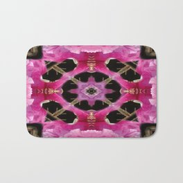 Flowered kaleidoscope Bath Mat