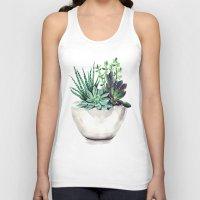 succulents Tank Tops featuring Succulents by Bridget Davidson