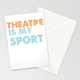 Theatre Is My Sport Theater Actor Actress Gift Stationery Cards