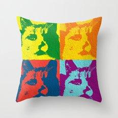 Pop Cat Throw Pillow